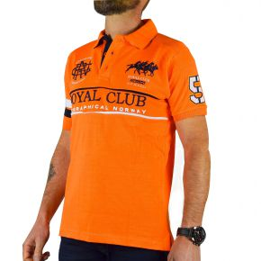 Polo Royal Club homme Geographical Norway orange