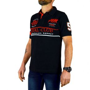 Polo Royal Club homme Geographical Norway noir
