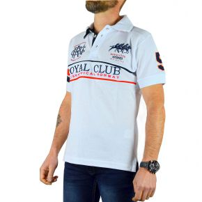Polo Royal Club homme Geographical Norway blanc