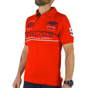 Polo Royal Club homme Geographical Norway rouge