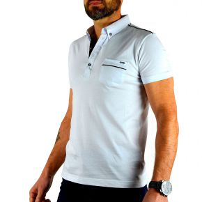 Polo Tony Copper manches courtes blanc