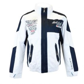Coupe-vent blouson homme Geographical Norway blanc / marine