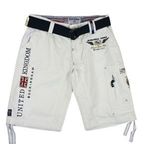 Bermuda cargo homme Geographical Norway blanc