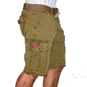 Bermuda cargo homme Geographical Norway kaki