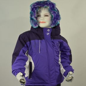 Blouson ski fille Peak Moutain violet