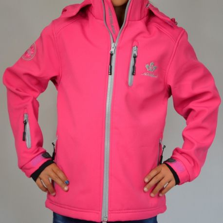 Veste softshell fille Northland rose zip gris clair