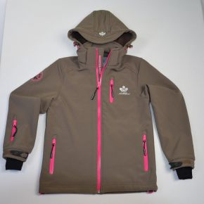 Veste softshell fille Northland taupe zip rose