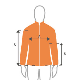 "See "" Veste softshell homme Geographical Norway marine "" sizechart"